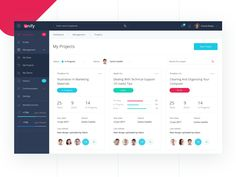 management dashboard Project management dashboard by WhiteOnWhite Digital.Project management dashboard by WhiteOnWhite Digital. Dashboard Template, Dashboard Ui, Dashboard Design, App Design, Ui Ux, Digital Dashboard, App Ui, Project Management Dashboard, Project Management Templates