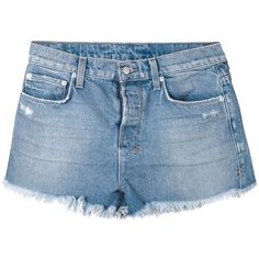 Ksubi distressed jeans shorts (1,610 CNY) ❤ liked on Polyvore featuring shorts, bottoms, pants, blue, denim short shorts, jean shorts, destroyed denim shorts, distressed denim shorts and blue shorts