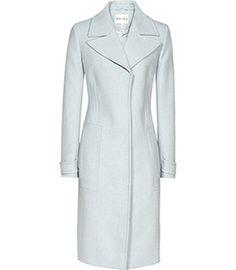 Lia Grey Tailored Streamlined Coat - REISS