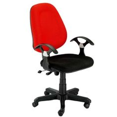 Majestic Revolving Office Chair-Red