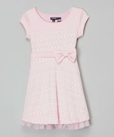 Look at this Zunie & Pinky Pink & White Bow Dress - Toddler & Girls on #zulily today!