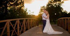 Wellshire Event Center Wedding Denver Sunset on Bridge