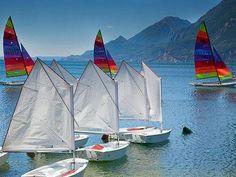 Opti Dinghies on Lake Garda