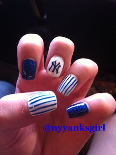 BASEBALL Season is BAAAACK! Go Yankees!  New York Yankees Nail Art