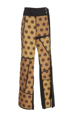 This **Loewe** dot patch trousers features a straight styled silhouette and patchwork.