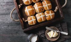 Begin a New, Old-Fashioned Easter Tradition: Spiced Coffee Hot Cross Buns Easter Hot Cross Buns, Spiced Coffee, Coffee Health Benefits, Bun Recipe, Easter Traditions, Alcohol Recipes, Dry Yeast, Spices, Baking