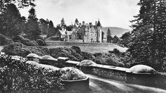 Tour Scotland Photographs: Old photograph of Dunans Castle in Glendaruel on the Cowal Peninsula, Argyll, Scotland. This Scottish castle was for over two centuries the home of the Fletcher Clan