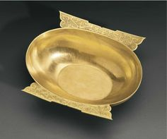 A very rare gold winged cup, China, Western Han dynasty, 3rd-2nd century BC