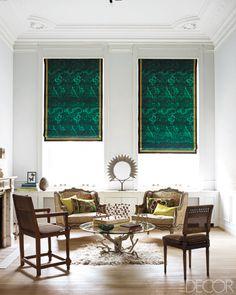 Window Treatment Ideas - Designer Curtains and Shades - ELLE DECOR