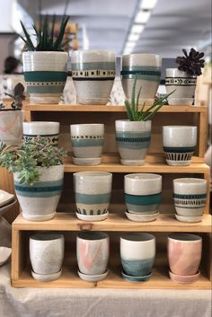 Plant Painting, Ceramic Painting, Mini Plants, Potted Plants, Ceramic Plant Pots, Ceramic Studio, Ceramic Artists, Handmade Pottery, Perfect Match