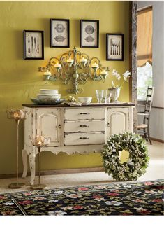 French Country Console | www.countrydoor.com #CountryHomeDecorating,