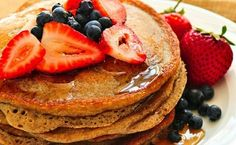 Protein Pancake Recipe  Ingredients:        1/4 cup egg whites      1 scoop vanilla protein powder (any flavor will do)      2 tbs sugar-free vanilla coconut milk      1 tbs ground flaxseed      1/4 cup ricotta (gives thicker consistency, but optional)      1 tbs natural nut butter (optional topping)
