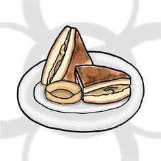 sandwich foie gras [ES] #sandwich de #foiegras [EN] #foie gras sandwich.