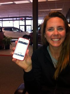 New customer and her Capital Buick GMC App on her Smartphone!