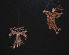 Bobbin Lace, Wire, Brooch, Stars, Inspiration, Beautiful, Jewelry, Trendy Tree, Contemporary