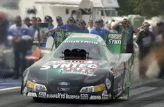 FILE – In this Aug. 15, 2004, file photo, Eric Medlen, of Yorba Linda, Calif., launches his NHRA Funny Car during the semifinals of the Lucas Oil NHRA Nationals at Brainerd International Raceway near Brainerd, Minn.  Ten years after Eric's fatal practice run at Gainesville...  http://usa.swengen.com/medlens-death-spurred-nhra-safety-gains/