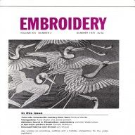 Vintage Embroidery Journal Magazine from the Embroiderers Guild-interesting articles, lots of other issues available too