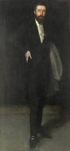 "James Abbott McNeill Whistler (1834 – 1903) | ""Arrangement in Black: Portrait of F. R. Leyland"" | © Freer Gallery of Art, Washington DC"