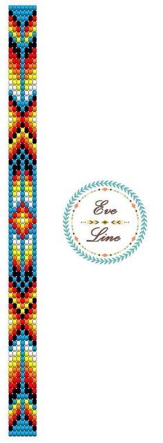 Loom braclet, loomed, toho beads myiuki beading handamde diy madewithlove azteckie braclet bohemian jewellery loom schemat