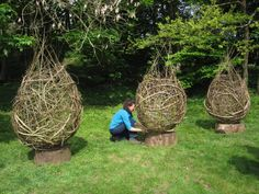 angela morley - made of willow, old man's beard, dogwoods and silver birch
