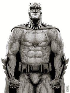 «Batman v Superman: Dawn Of Justice» - Ben Affleck as Batman >>> Art by Garnabiel