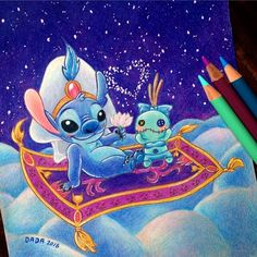 Stitch [as Prince Ali feat. Scrump as Jasmine & the Magic Carpet] (As Princesses by Dada16808 @Instagram) #LiloAndStitch #Aladdin