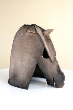 Horse ceramic bust sculpture abstract horse by elisavetasivas, €350.00