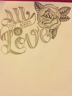 All you need is love  Drawing by Charley cumberledge