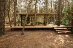 Casa Mar Azul by BAK arquitectos Small Summer House, Casas Containers, Forest House, Glass House, Glass Cabin, House In The Woods, Tiny House, Architecture Design, Cottage
