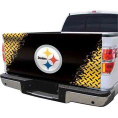 Washington Redskins with this Washington Redskins Tailgate Cover This design is officially licensed and approved by Washington Redskins Pittsburgh Steelers Merchandise, Nba Merchandise, Steelers Pics, Steelers Stuff, Truck Tailgate, Football Love, Steeler Nation, Picture Logo, Daddy Gifts