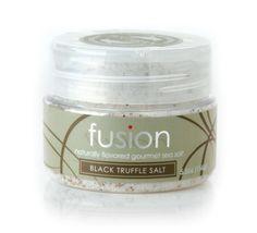 Fusion Black Truffle Sea Salt, 4.0-Ounce Jar - http://spicegrinder.biz/fusion-black-truffle-sea-salt-4-0-ounce-jar/