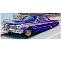 You'll love this scale replica of one of the mid-1960s' most popular cars—the Chevy Impala hardtop. The model features an opening trunk with lowrider pumps and a separate frame with lowering kit. It c