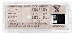 IGI, Brillant 0,55Carat Lupenrein feines Weiss G Juwel! - Diamanten unter Grosshandelspreis mit IGI HRD DPL GIA Zertifikat, D5778