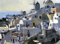 KEN HOWARD R.A. (British, born 1932) Santorini