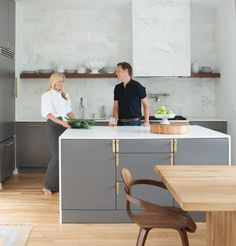 How design couple Mister + Mrs. Sharp transformed their stylish Serenbe house || How design couple Mister + Mrs. Sharp transformed their stylish Serenbe house The Sharps are looking sharp in their new abode Lisa Mowry Comments Meghan and Patrick Sharp turned an empty upstairs hallway into an office. California Closets cabinetry is topped with a white quartz countertop paired with…