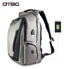 752e1c4b68 DTBG 17.3 Inch Laptop Backpack With USB Port Nylon Water Resistant Work  Laptop Rucksack College Shoulder BackPack Travel Knapsac