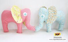 Como fazer elefante de tecido - Como ficou 2
