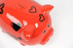 Piggy Bank Corações Vermelho XXL   A Loja do Gato Preto   #alojadogatopreto   #shoponline   referência 72943942