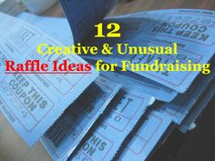 Some cool and creative raffle ideas to add fun to your #fundraising this year! -> www.rewarding-fundraising-ideas.com/raffle-ideas.html (Photo by Alyson Hurt / Flickr)