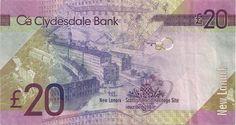 Wertseite: Geldschein-Europa-Westeuropa-Vereinigtes Königreich-Schottland-Clydesdale-Pound-20.00-2013