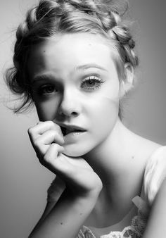 elle fanning. gorgeous? adorable? both. and the hair.