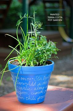 Take a great recipe to the next level! Plant a pot full of the ingredients and add the recipe, handwritten on the pot. A fabulous DIY teacher gift, too!