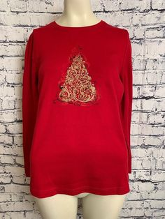 c874ab4f62f Croft  amp  Barrow M Various Colors Design Holiday Christmas Shirts  Pullover Tops  CroftBarrow