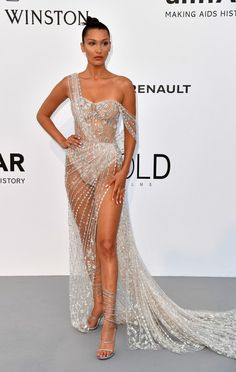 Bella Hadid in Ralph and Russo Couture attends the amfAR's 24th Cinema Against AIDS Gala in Cannes. #bestdressed