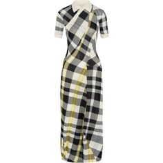 Stella McCartney Checked knitted cotton maxi dress (27.206.185 VND) ❤ liked on Polyvore featuring dresses, blue, maxi dresses, multi colored dress, stella mccartney dresses, colorful maxi dress and cotton knit dresses