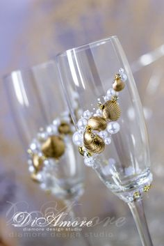 Сhampagne glasses from the collection Art Deco with от DiAmoreDS