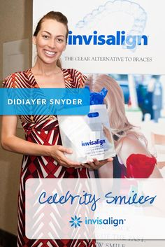 Australian model, Didiayer Snyder, smiles for us at one of her first Invisalign appointments.