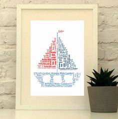 Custom sailboat print Nautical theme Nautical Nursery