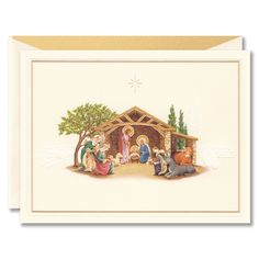 Christmas Manger Greeting Card: The story of Christmas begins here, and so a sweet nativity scene makes for the perfect greeting card image. From their family to yours. True Meaning Of Christmas, A Christmas Story, Holiday Cards, Christmas Cards, Greeting Card Box, Christmas Manger, William Arthur, Holy Night, Silent Night