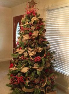 Candy canes made from old wooden canes or you could use those tendencias de navidad 2018 burlap christmas treechristmas publicscrutiny Choice Image